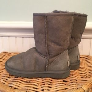 UGG Classic Short Boots Grey Size 6
